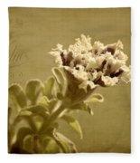 Vintage Double Petunia Fleece Blanket