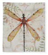 Vintage Dragonfly-jp2563 Fleece Blanket