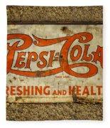 Vintage Drink Pepsi Cola 5 Cents Dsc07157 Fleece Blanket