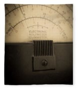 Vintage Electric Meter Fleece Blanket