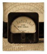 Vintage Electrical Meters Fleece Blanket