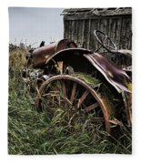 Vintage Farm Tractor Color Fleece Blanket