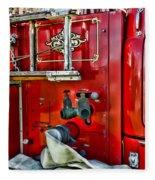 Vintage Fire Truck Fleece Blanket