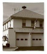 Congers, New York - Vintage Firehouse Fleece Blanket