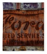 Vintage Ford Authorized Service Sign Fleece Blanket