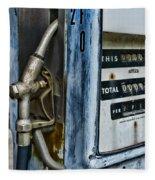 Vintage Gas Pump 2 Fleece Blanket