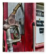 Vintage Gas Pump Fleece Blanket