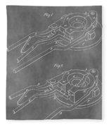 Vintage Glass Mold Patent Fleece Blanket