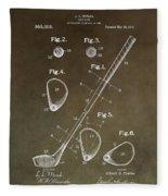 Vintage Golf Club Patent Fleece Blanket