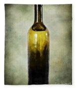 Vintage Green Glass Bottle Fleece Blanket