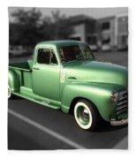 Vintage Green Chevy 3100 Truck Fleece Blanket