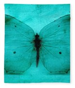 Vintage Grunge Butterfly Fleece Blanket