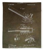 Vintage Hammer Patent Fleece Blanket