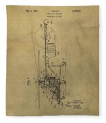 Vintage Helicopter Patent Fleece Blanket