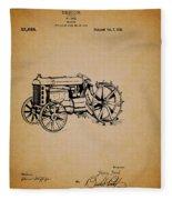 Vintage Henry Ford Tractor Patent Fleece Blanket