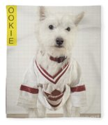 Vintage Hockey Rookie Player Card Fleece Blanket