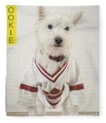 Vintage Hockey Rookie Player Card Fleece Blanket
