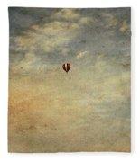 Vintage Hot Air Balloons Fleece Blanket