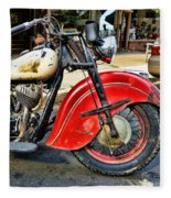 Vintage Indian Motorcycle - Live To Ride Fleece Blanket