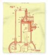 Vintage Internal Combustion Engine Patent 1940 Fleece Blanket