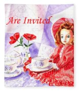 Vintage Invitation Fleece Blanket