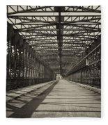 Vintage Iron Truss Bridge Fleece Blanket