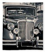 Vintage Jaguar 1950s Fleece Blanket