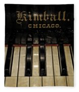 Vintage Kimball Piano Fleece Blanket