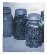 Vintage Kitchen Glass Jar Canning Fleece Blanket