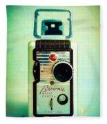 Vintage Kodak Brownie Movie Camera Fleece Blanket