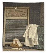 Vintage Laundry Room II By Edward M Fielding Fleece Blanket