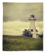 Vintage Lighthouse Pei Fleece Blanket