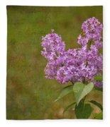 Vintage Lilac Bush Fleece Blanket