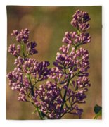 Vintage Lilac Fleece Blanket
