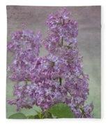 Vintage Lilacs Fleece Blanket