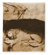 Vintage Lion Of Lucerne Fleece Blanket