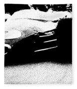 Vintage Lotus At Speed Fleece Blanket
