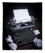 Vintage Manual Typewriter Fleece Blanket