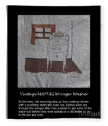 Vintage Maytag Wringer Washer Fleece Blanket