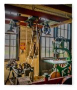 Vintage Michigan Machine Shop Fleece Blanket