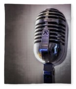 Vintage Microphone 2 Fleece Blanket