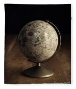 Vintage Moon Globe Fleece Blanket