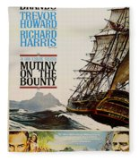 Vintage Mutiny On The Bounty Movie Poster 1962 Fleece Blanket