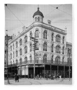 Vintage New Orleans 4 Fleece Blanket