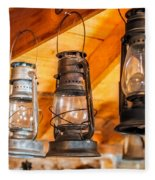 Vintage Oil Lanterns Fleece Blanket