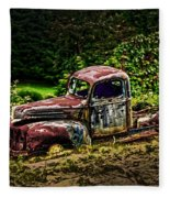 Vintage Old Forty's Pickup Fleece Blanket