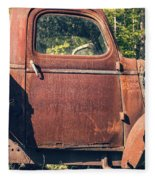 Vintage Old Rusty Truck Fleece Blanket