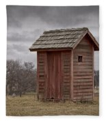 Vintage Outhouse Behind A Historical Country School In Southwest Michigan Fleece Blanket