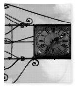 Vintage Paris Clock 2 Fleece Blanket