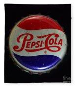 Vintage Pepsi Bottle Cap Fleece Blanket